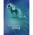 beautiful horse with a flowing mane vector image vector image