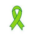 black awareness ribbon sign lemon vector image vector image