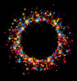 Black festive background vector image