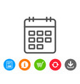 Calendar line icon event reminder sign vector image