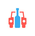 car and bottle like drunk driver sign vector image