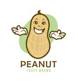 cartoon peanut character vector image vector image