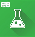 chemical test tube icon business concept vector image vector image