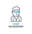 chief accountant concept outline icon linear vector image