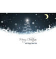 christmas greeting card new year wishes reindeer vector image