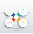 clean four steps infographic template design for vector image vector image