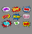 comic speech bubbles with text set bang nice vector image