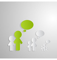 Cut Paper People With Empty Speech Bubbles on vector image vector image