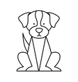 cute dog mascot isolated icon vector image vector image