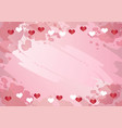 decorative pink watercolor background with border vector image