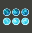 different earth sides on dark infographic template vector image vector image