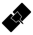 drywall repair the black color icon vector image