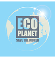eco planet vector image vector image