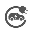 electric car in refill icon electric vector image