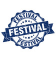 festival stamp sign seal vector image vector image