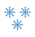flat color snow flakes icon vector image vector image