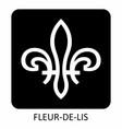 fleur-de-lis icon vector image