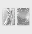 fluid liquid shapes composition wavy geometric vector image vector image