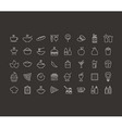 Food outline icon vector image