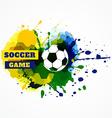 football splash vector image