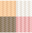 Four seamless patterns with line grid patterns vector image