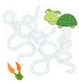 Game labyrinth find a way tortoise vector image vector image