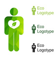 green ecology logo or icon in eps nature logotype vector image
