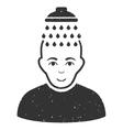 Head Shower Grainy Texture Icon vector image vector image