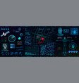 high-tech dashboard for people search vector image vector image