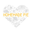 homemade fruit pie banner template with baking vector image vector image