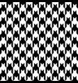 houndstooth seamless pattern black and white vector image vector image