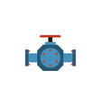 isolated pipe pump valve flat icon flange vector image vector image