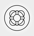 lifebuoy lifesaver icon editable thin vector image vector image