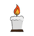 lit candle icon image vector image vector image