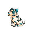 little cartoon dalmatian dog vector image