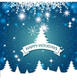 lovely card happy holidays landscape tree vector image vector image