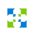 medical arrow logo icon vector image vector image