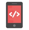 mobile web development flat icon vector image vector image