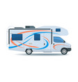 motorhome or recreational vehicle rv camper car vector image