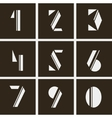 numerals numbers of geometric shapes vector image vector image