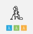 of hygiene symbol on floor vector image