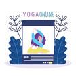 online yoga website application training coaching vector image