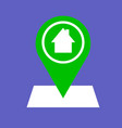 outline location home icon vector image