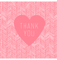 pink thank you card handdrawn vector image vector image