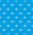 quality hat pattern seamless blue vector image vector image