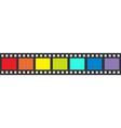 Rainbow flag Film strip frame Straight shape vector image vector image
