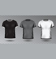 realistic unisex shirt design tempale on vector image