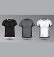 realistic unisex shirt design tempale vector image