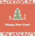 red striped background with a Christmas tree vector image