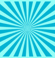 retro sunburst background centric blue pat vector image vector image